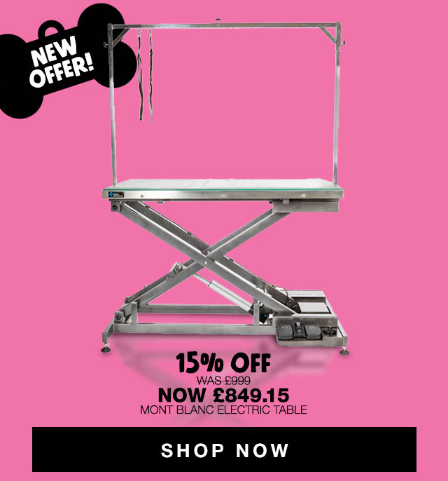 New Offer! Shop 15% Off Groom Professional Mont Blanc Electric Table