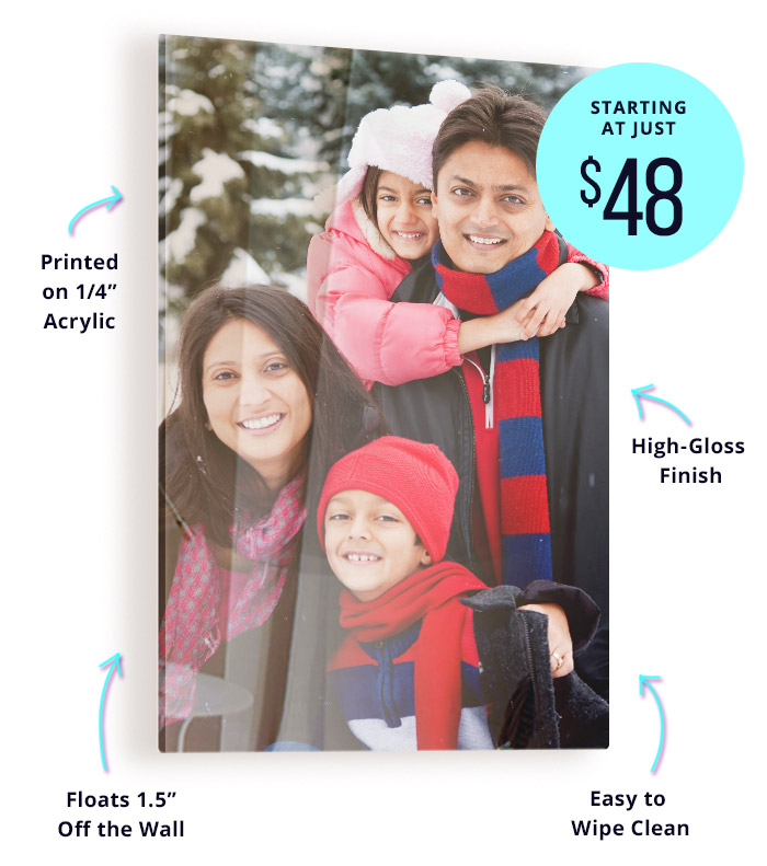 Order an Acrylic Photo Print for 60% Off