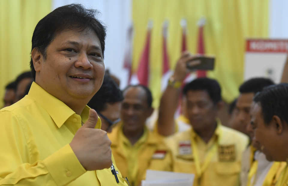 Golkar Party chairman Airlangga Hartarto. (Antara Photo/Puspa Perwitasari)