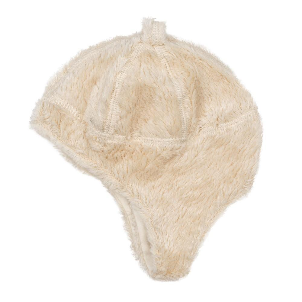 Organic Cotton Ear Flap Hat - Off-White