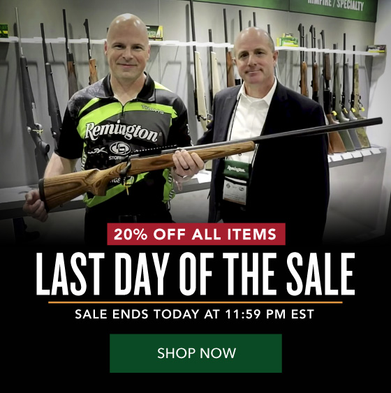 Last Day of the Sale! 20% OFF Everything - Shot Show Sale
