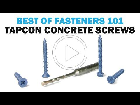 All About Tapcon Masonry Concrete Screws | Fasteners 101