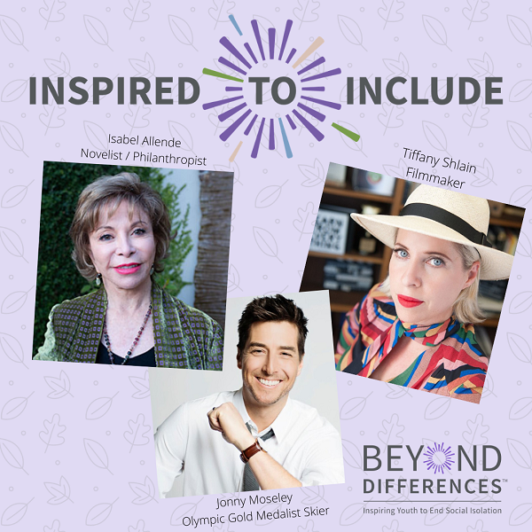 Isabel Allende, Jonny Moseley, and Tiffany Shlain are all Inspired To Include!