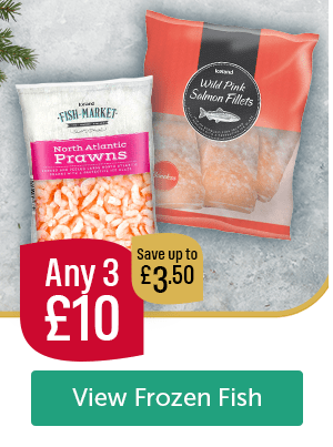 Any 3 � Save up to �50 Fish Market North Atlantic Prawns Iceland Wild Pink Salmon Fillets View Frozen Fish