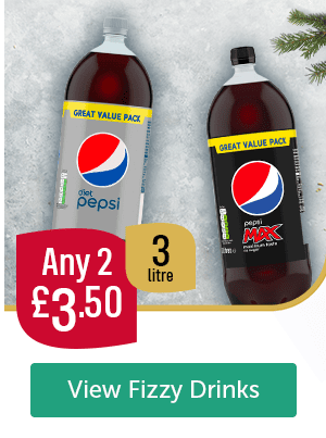 Any 2 �50 3 Litre Diet Pepsi Pepsi Max View Fizzy Drinks