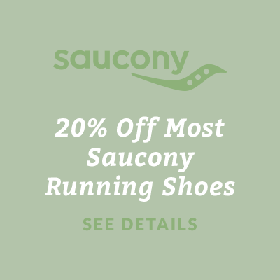 20% Off Most Saucony Running Shoes