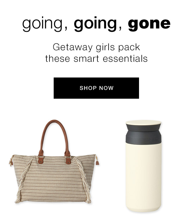 Getaway girls pack these smart essentials