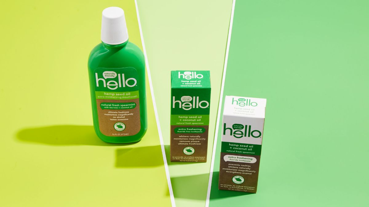 hello hemp seed oil toothpaste and rinse