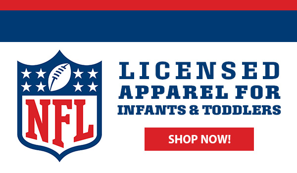 NFL licensed apparel for infants and toddlers. Shop now.