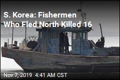 S. Korea: Fishermen Who Fled North Killed 16