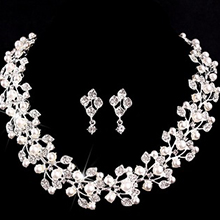 Shining Alloy/Imitation Pearls With Austrian Crystal Ladies' Jewelry Sets (011073969)