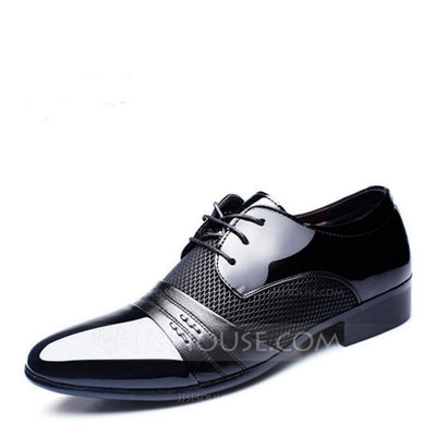 Men's Microfiber Leather Flats Latin Modern Dance Shoes (053...