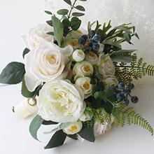 Elegant Round Satin Bridal Bouquets/Bridesmaid Bouquets (Sold in a single piece) - Bridal Bouquets (123169528)