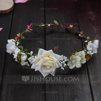 Artificial Flower With Flower Flower Headband (Sold in a sin...