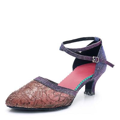 Women's Mesh Heels Ballroom Dance Shoes (053201972)...