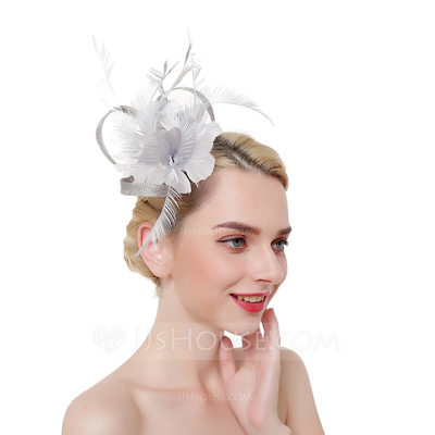 Ladies' Eye-catching/Charming/Romantic Cambric/Feather With ...