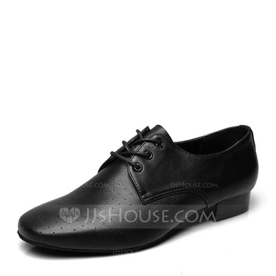 Men's Real Leather Latin Modern Ballroom Swing With Lace-up ...