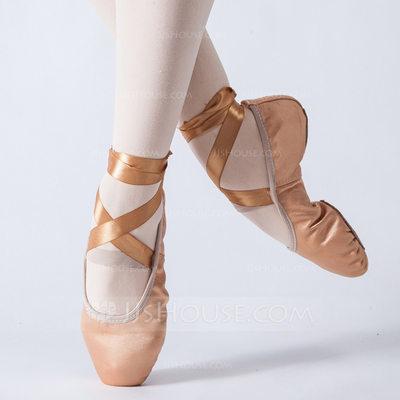 Women's Satin Flats Ballet Dance Shoes (053147406)...