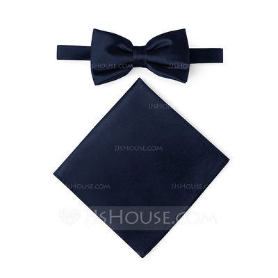Classic Bow Tie Pocket Square charmeuse (200209552)...