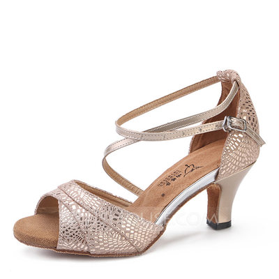 Real Leather Heels Latin Dance Shoes (053200546)...