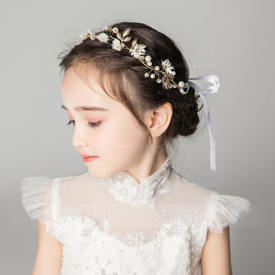 Alloy/Crystal With Flower Headbands (Sold in a single piece)...