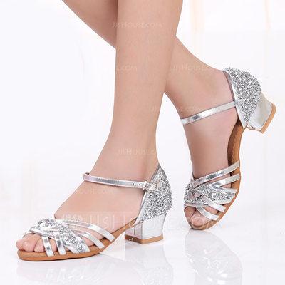 Kids' Sparkling Glitter Heels Latin Dance Shoes (053175294)...