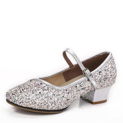 Women's Sparkling Glitter Heels Ballroom Dance Shoes (053182...
