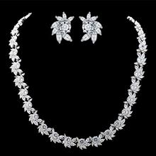 Elegant Copper/Zircon Ladies' Jewelry Sets (011087296)