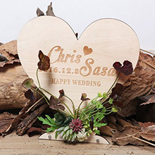 Simple/Love Design Nice Wooden Wedding Sign With Easel (131201575)