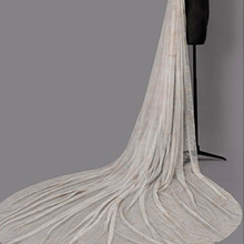 One-tier Chapel Bridal Veils With Lace (006203699)