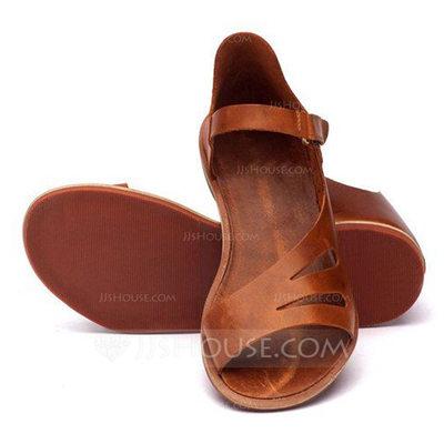 Women's Leatherette Flat Heel Sandals shoes (087202477)...