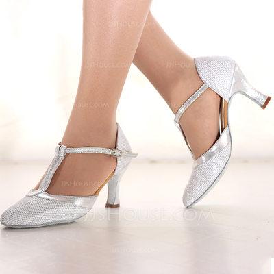 Women's Sparkling Glitter Heels Latin Dance Shoes (053164361...