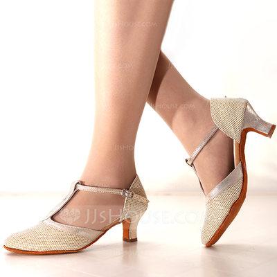 Women's Sparkling Glitter Heels Latin Dance Shoes (053164360...