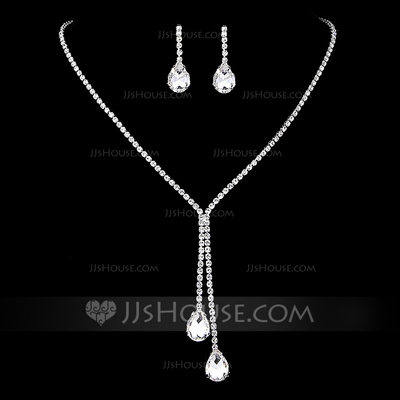 Elegant Copper/Silver Plated With Rhinestone Ladies' Jewelry...