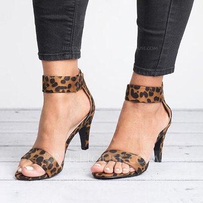 Women's Suede Low Heel Sandals shoes (087202461)...