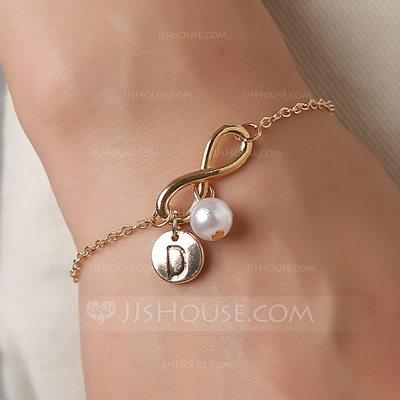 Elegant Alloy/Imitation Pearls Bracelets For Bridesmaid (011...