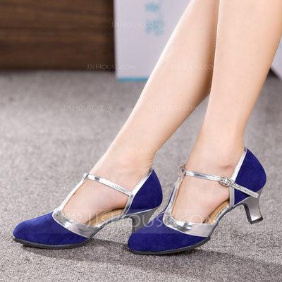 Women's Nubuck Heels Ballroom Dance Shoes (053153290)...