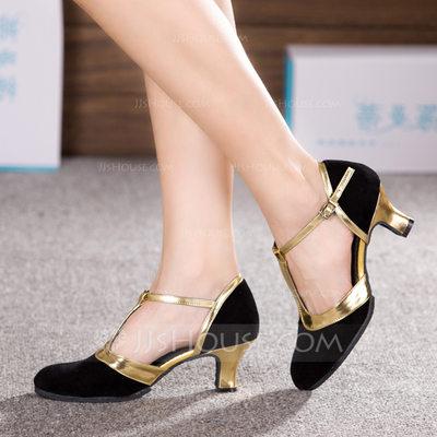 Women's Nubuck Heels Ballroom Dance Shoes (053153289)...