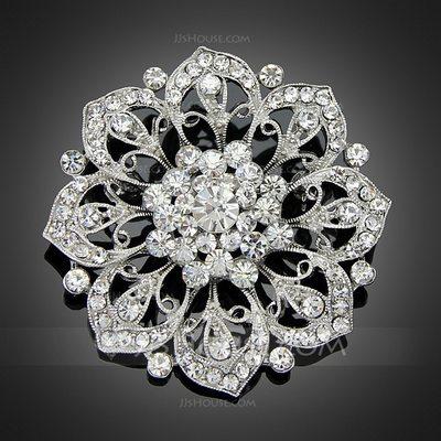 Fancy Alloy/Rhinestones/Imitation Pearls With Rhinestone Lad...