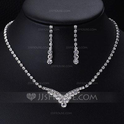Elegant Alloy/Rhinestones With Rhinestone Ladies' Jewelry Se...