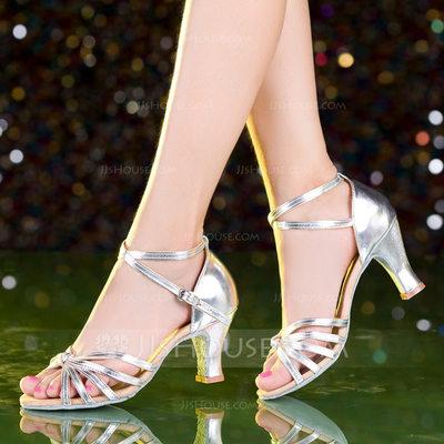 Women's Leatherette Heels Latin Dance Shoes (053149288)...