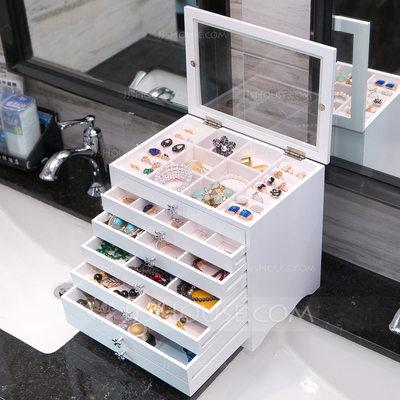 Classic Wood/Glass Ladies' Jewelry Box (011200593)...