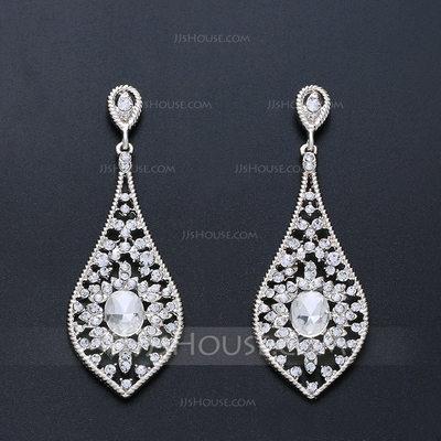 Elegant Alloy/Zircon Ladies' Earrings (011200523)...