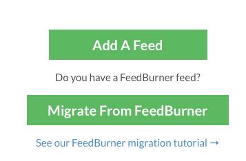 Migrate from FeedBurner