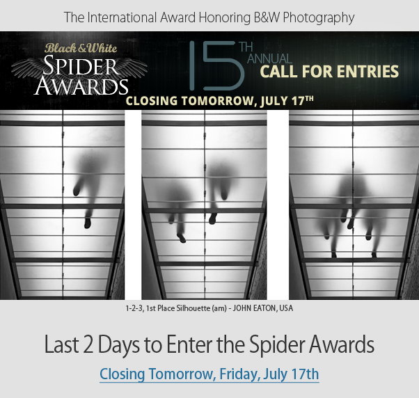 Last 2 Days to Enter Spider Awards - Closing Tomorrow Friday, July 17th