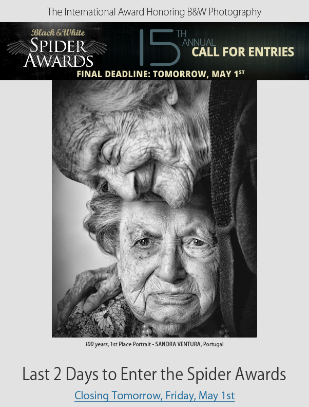 Last 2 Days to Enter Spider Awards - Final Deadline Tomorrow Friday, May 1st