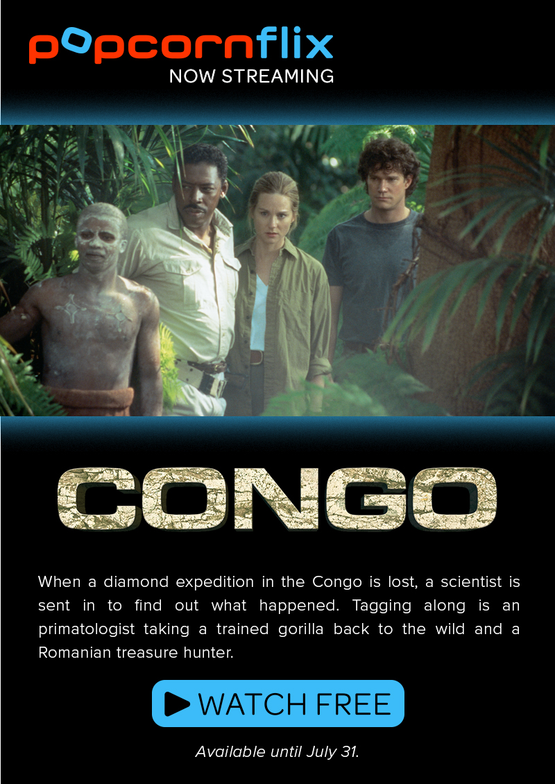 When a diamond expedition in the Congo is lost, a scientist is sent in to find out what happened. Tagging along is an primatologist taking a trained gorilla back to the wild and a Romanian treasure hunter.