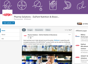 LinkedIn DuPont Pharma Solutions