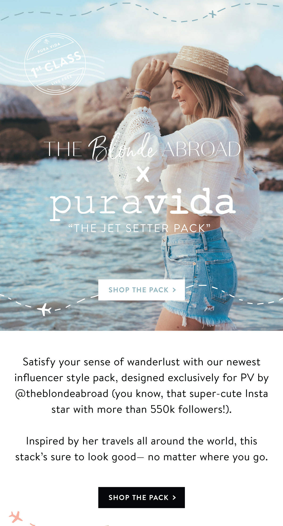 The Blonde Abroad x Pura Vida | The Jetsetter Pack