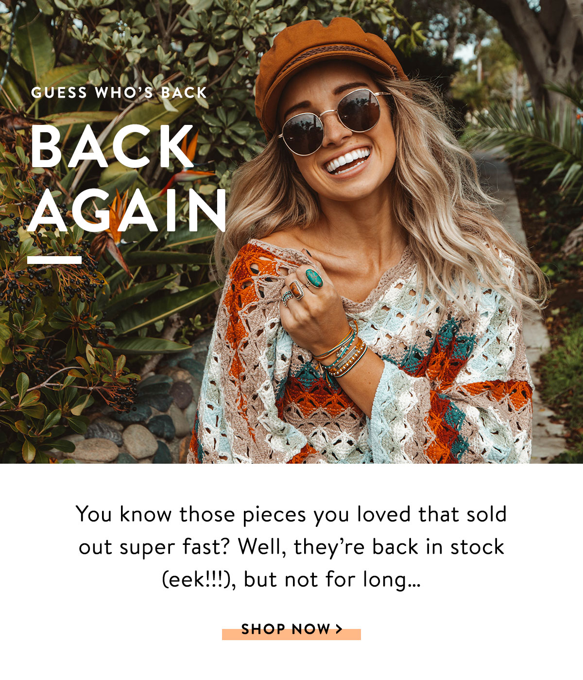Guess Who's Back, Back Again | SHOP NOW >